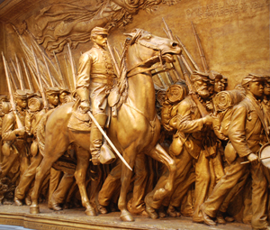 Memorial to Robert Gould Shaw and the Massachusetts 54th Regiment. Augustus Saint-Gaudens (1848-1907), plaster original at the National Gallery of Art. Image by Jarek Tuszynski.This file is licensed under the Creative Commons Attribution-Share Alike 3.0 Unported license.