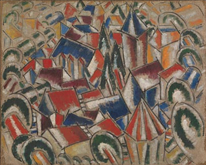 Fernand Léger (French, 1881-1955), The Village, 1914. Oil on canvas. Leonard A. Lauder Cubist Collection, Purchase, Leonard A. Lauder Gift, 2013; © 2013 Artists Rights Society (ARS), New York / ADAGP, Paris