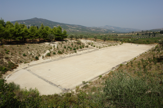 The stadium in Namea, Greece. Image by Michael F. Mehnert. This file is licensed under the Creative Commons Attribution-Share Alike 3.0 Unported, 2.5 Generic, 2.0 Generic and 1.0 Generic license.