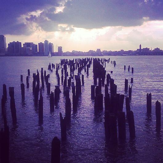 Hudson River Pilings, New York. Photo by Ilana Novick.