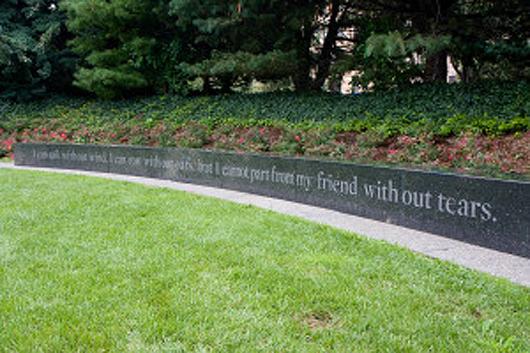 AIDS Memorial, New York. Photo by Garrett Ziegler via newyork.cbslocal.com.