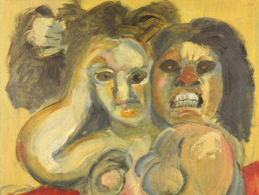 Bob Guccione 'Fearsome Couple:' 1 of 66 original oils from Guccione's triumphant return to painting in the 1990s. Guccione Collection image.