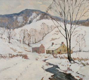 'The Gray Hills of Winter' by C. Curry Bohm. Image courtesy of Eckert & Ross Fine Art, Indianapolis, Ind.