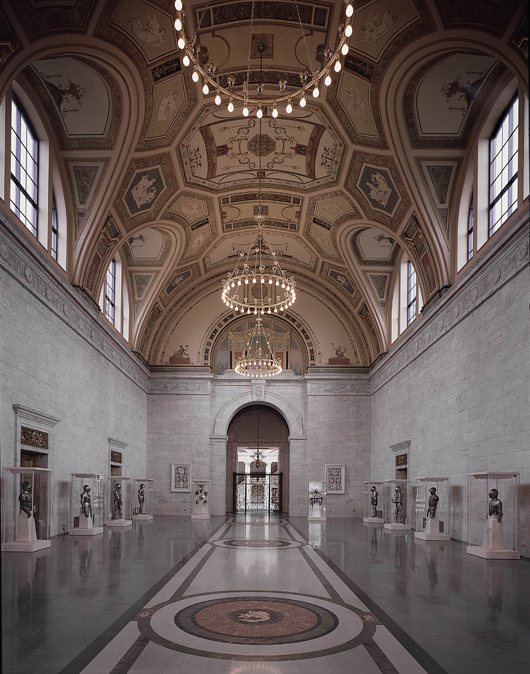 The Great Hall at the Detroit Institute of Arts. Image courtesy of Detroit Institute of Arts.