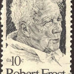 1974 US postage stamp honoring the poet Robert Frost.