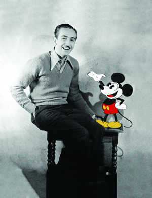 Walt Disney and Mickey Mouse. Image courtesy of Museum of Science and Industry, Chicago.
