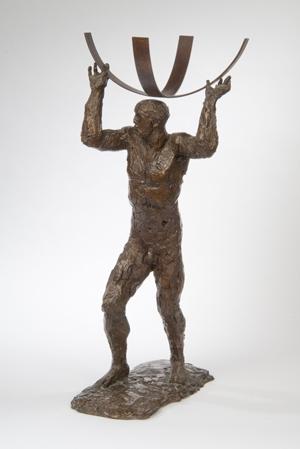 Dame Elizabeth Frink's maquette of Atlas sold for £27,000 ($43,659). Sworders Fine Art Auctioneers image.
