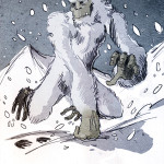 Illustration of a yeti by Philippe Semeria, licensed under the Creative Commons Attribution 3.0 Unported license.