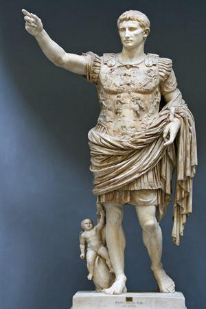 The statue known as the Augustus of Prima Porta, first century. Till Niermann image. This file is licensed under the Creative Commons Attribution-Share Alike 3.0 Unported license.