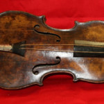 The long-lost circa-1880 violin of 'Titanic' bandmaster Wallace Hartley, which was auctioned by Henry Aldridge & Son for more than $1.6 million. Image courtesy of Henry Aldridge & Son.