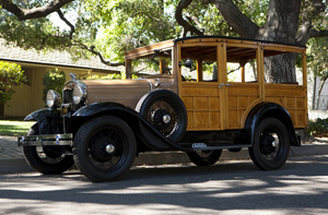 This beautiful 1931 Ford Model A woody station wagon is offered with an estimate of $20,000 to $30,000. The odometer reads 61,146. John Moran Auctioneers image.