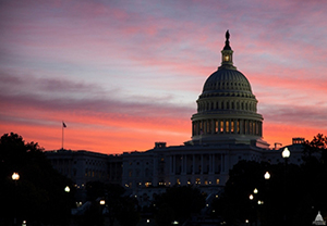 The US Capitol in Washington, DC, as seen at sunset. U.S. Capitol image.