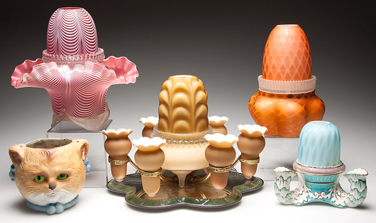 Sample of more than 300 fairy lamps from the Graham collection. Jeffrey S. Evans & Associates image.