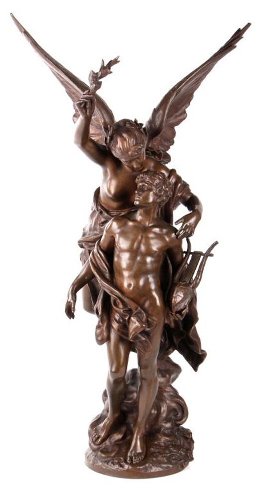 Lot 181: Mathurin Moreau (1822-1912), 'L'Immortalité,' bronze. Gray's Auctioneers and Appraisers image.