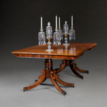This W.R. Harvey Regency dining table will be available at the Mayfair Antiques & Fine Art Fair. The Mayfair Antiques & Fine Art Fair image.
