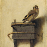 Donna Tartt's novel titled 'The Goldfinch' was inspired by the 1654 painting by Carel Fabritius. Image courtesy of Wikimedia Commons.