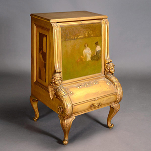 Lot 3079: Arthur Matthews music cabinet. Sold for $212,400. Michaan's Auctions image.