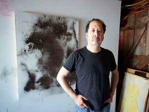 Stephen Lapthisophon in his Dallas studio. Photo courtesy of Dallas Museum of Art.