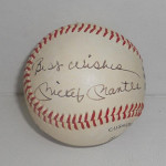 Baseball signed by Yankees legend Mickey Mantle, which is being auctioned Oct. 25 by Ivey-Selkirk Auctioneers. Image courtesy of LiveAuctioneers.com and Ivey-Selkirk Auctioneers.