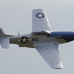 A restored P-51D Mustang, built in 1944, in its wartime markings. Image by Adrian Pingstone, courtesy of Wikimedia Commons.