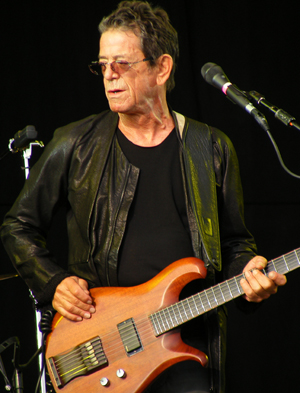 Lou Reed performing at the Hop Farm Music Festival on July 2, 2011. Photo by Man Alive! Licensed under the Creative Commons Attribution 2.0 Generic license.