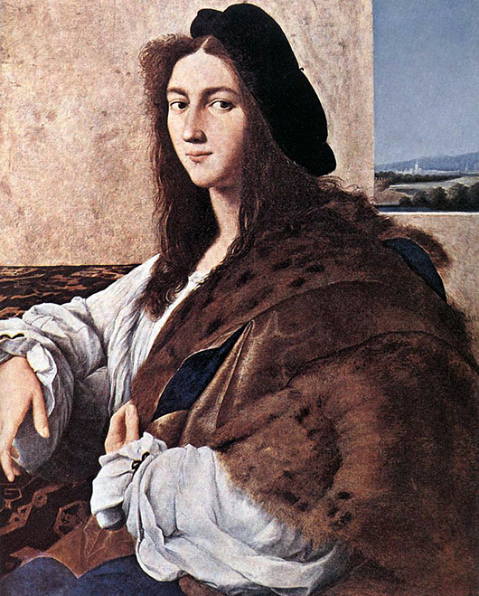 Raphael's 'Portrait of a Young Man' was looted by the Germans from the Czartoryski Museum in Poland in 1939. It was not located until 2012. Image courtesy of Wikimedia Commons.