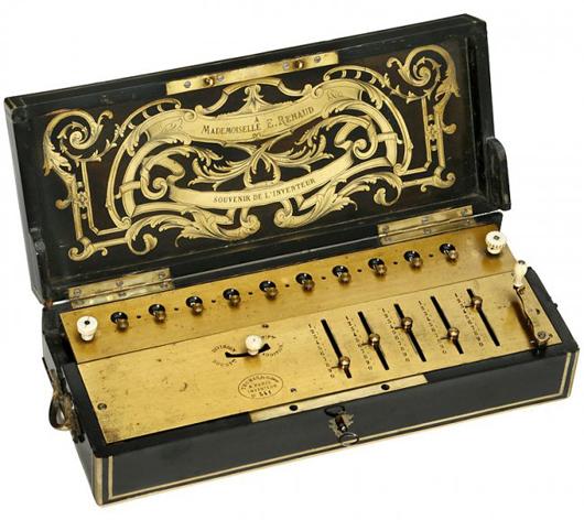 Arithmomere mechanical calculator, 1835. Auction Team Breker image.