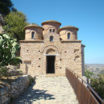 The Cattolica di Stilo is a Byzantine church in the comune of Stilo, Calabria, southern Italy. It is a national monument and not the church dismantled by artist Francesco Vezzoli. Image by Montek. This file is licensed under the Creative Commons Attribution-Share Alike 3.0 Unported, 2.5 Generic, 2.0 Generic and 1.0 Generic license.