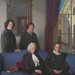 'The Four Justices' by Nelson Shanks; 2012; Ian and Annette Cumming Collection, on loan to the Smithsonian's National Portrait Gallery.