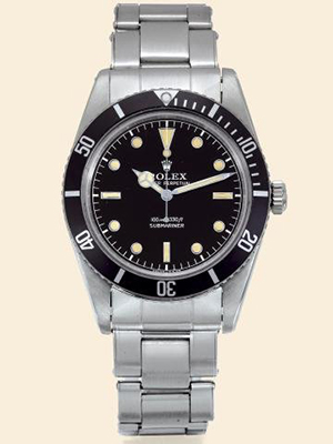 A so-called 'James Bond' Rolex, Oyster Perpetual, Submariner, circa 1958. Image courtesy of LiveAuctioneers.com Archive and Antiquorum Auctioneers.