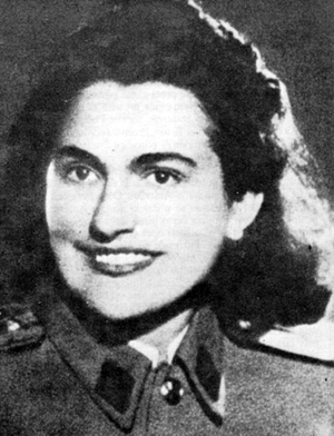 Jovanka Broz in a 1940s photo when she served in the Yugoslav People's Army. Image courtesy of Wikimedia Commons.