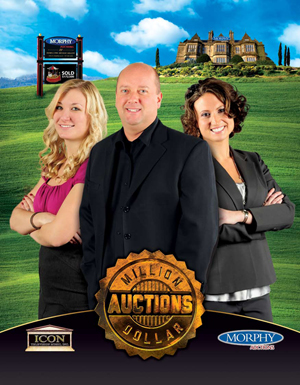 'Million Dollar Auctions' is an unscripted TV show that documents the activities of Morphy Auctions CEO Dan Morphy and his team. Left to right: Morphy Auctions office manager Ashley Wingenroth; CEO Dan Morphy, and his executive assistant, Serena Myers.