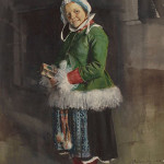Anders Leonard Zorn (Swedish, 1860-1920) 'Little Girl in Traditional Dress,' 1883, watercolor on paper laid on board, 22 3/4 x 15 inches, signed, dated and inscribed lower right: 'Dalecarlia-83 / (Sweden) / Zorn.' Estimate: $50,000-$70,000. Heritage Auctions image.
