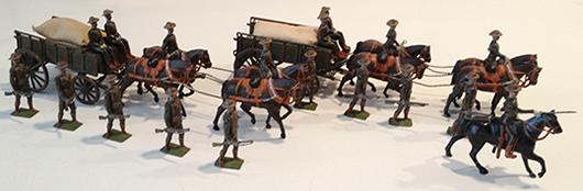 Boer War C.I.V. Supply Column with Escort. Est. $6,000-$8,000. Old Toy Soldier Auctions image.