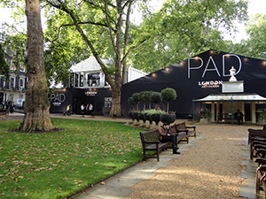 The PAD marquee in Berkeley Square—The Pavilion of Art & Design during London's Frieze week. Image: Auction Central News.