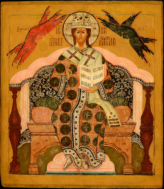 This Russian icon titled 'Mother of God Tichvinskaya,' Moscow, dating from the second half of the 16th century, from the collection of Jan Morsink, Amsterdam, will be on display at the Willow Gallery, 40, Duke Street, for Russian Art Week, Nov. 23- 29. Image courtesy Willow Gallery and Jan Morsink.