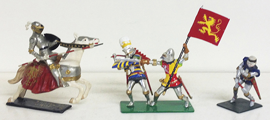 Courtenay and Courtenay-Greenhill knights. Est. $300-$500. Old Toy Soldier Auctions image.