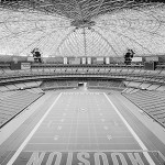 Interior view of the Astrodome with seating configuration for football. Image by Jet Lowe. Historic American Engineering Record, Library of Congress HAER TX-108-11.