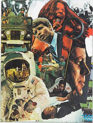Robert Rauschenberg, 'Signs.' Estimate: $5,000-$7,000. Rago Arts and Auction Center image.