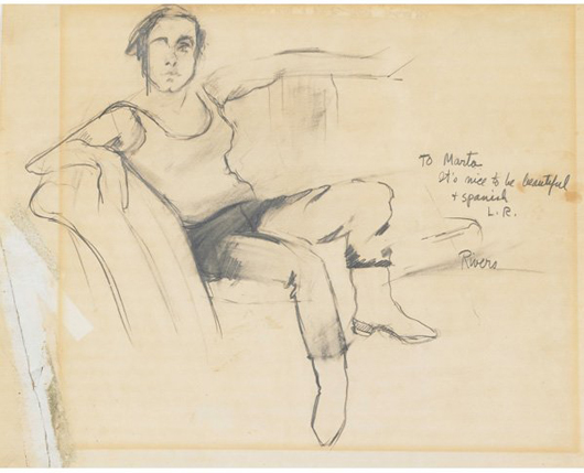 Larry Rivers, 'To Martha.' Estimate: $7,000-$9,000. Rago Arts and Auction Center image.