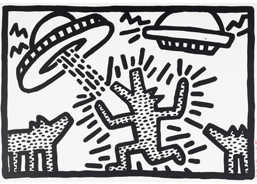 Keith Haring, Untitled. Estimate: $3,000-$5,000. Rago Arts and Auction Center image.