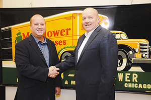 (Left) Dan Morphy, owner and CEO of Morphy Auctions in Denver, Pa.; and Dan Matthews, founder of Matthews Auction Co. of Nokomis, Illinois, which will operate under the Morphy's banner as of January 1, 2014.