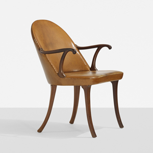 Lot 111 – Fits Henningsen, rare armchair. Estimate: $30,000-$40,000. Wright image.