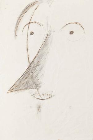 Ardengo Soffici, caricatura di Luigi Russolo, 1914, matita e inchiostro su carta, cm 21,5 x 14,4, stima €4.000-5.000, Courtesy Minerva Roma.