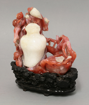 Chinese desk ornament, agate and jade, sold for $56,100 at Sworders' Nov. 5, 2013 auction. Image courtesy of Sworders Fine Art Auctioneers.