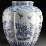 Chinese Ming Dynasty blue and white porcelain vase. Midwest Auction Galleries image.