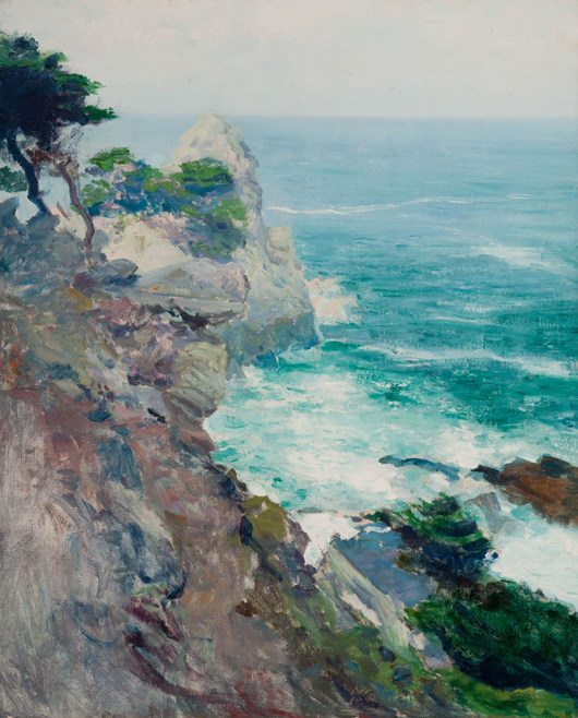 Guy Rose (American, 1867-1925), 'Out to Sea, Point Lobos,' oil on canvas. Estimate: $200,000-$300,000. Heritage Auctions image.