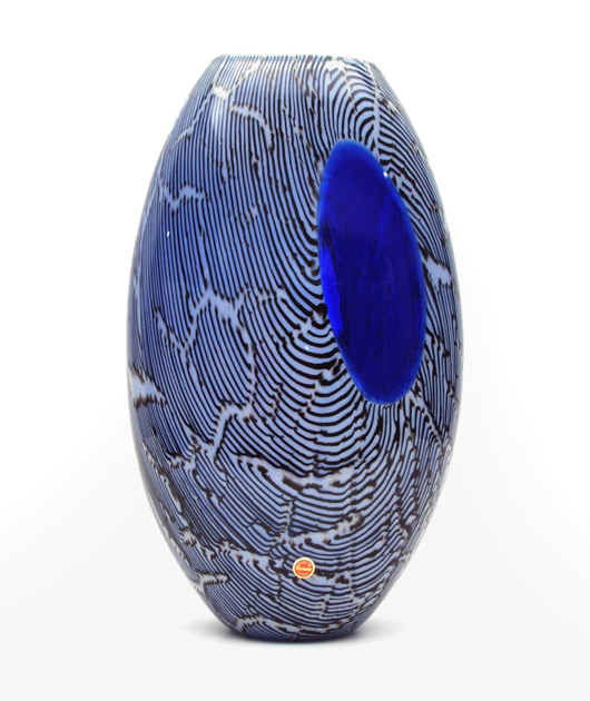 Giampaolo Seguso (Italian, b. 1942-) 'Elisse' Murano vase, 63/99, 13.75in, dated 1993, La Galleria dei 99 collection. Book example, Seguso COA. $1,800. Palm Beach Modern Auctions image.
