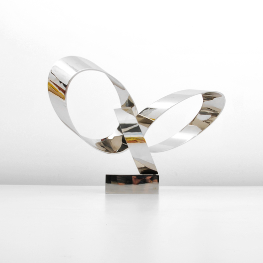 (Estate of) Larry Mohr (American, 1921-2013), 32-inch stainless steel sculpture 'Orbits VI,' 2/8, artist signed, $3,480. Palm Beach Modern Auctions image