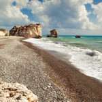 Petra tou Romiou in Cyprus, where according to Hesiod's 'Theogony' the goddess Aphrodite emerged from the sea. Image by Nono Verde. This file is licensed under the Creative Commons Attribution-Share Alike 3.0 Unported license.